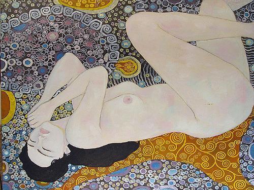 Nu #7 nude art - oil painting
