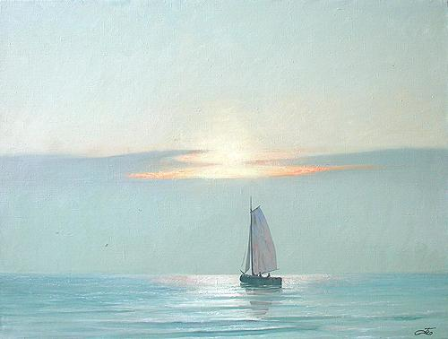 Morning seascape - oil painting