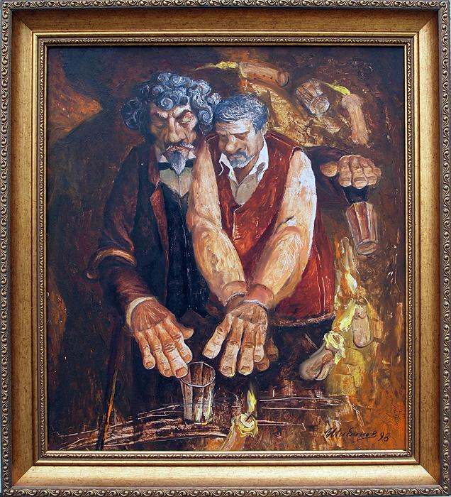 Me and S. Dyagilev story composition - oil painting