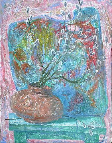 Spring still life - oil painting