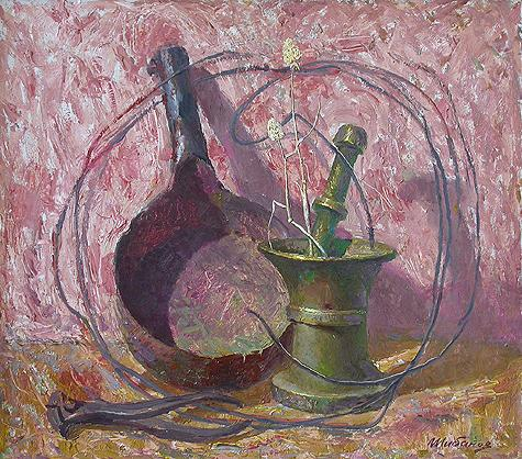 Still Life with Ladle still life - oil painting