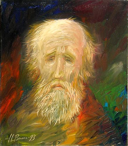 Andrey Rublev portrait or figure - oil painting