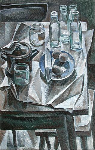 Things on the Table still life - oil painting