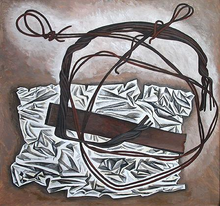 Wire still life - tempera painting