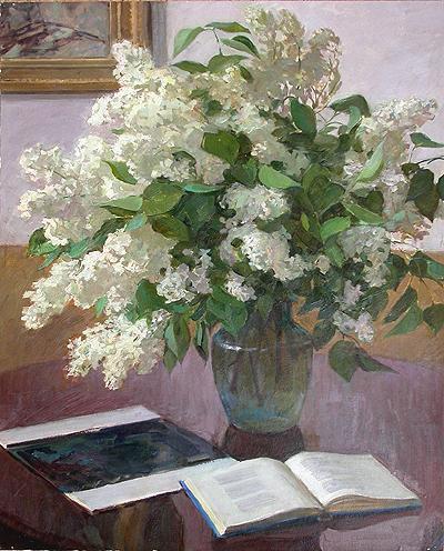 Сирень цветы - масло живопись