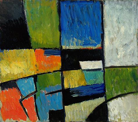 Figure Composition abstract art - oil painting