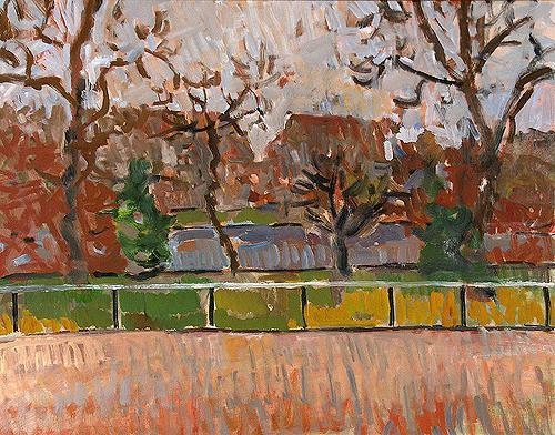 Park London cityscape - oil painting