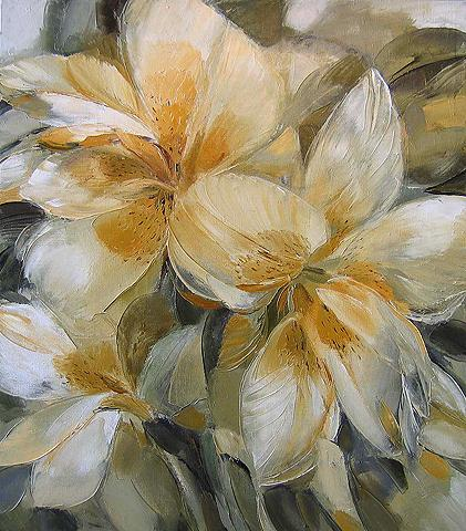 Warm May flower - oil painting