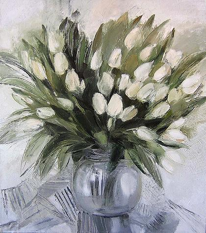 Dutch Tulips flower - oil painting