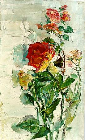 Roses flower - oil painting