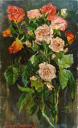 Roses flower - oil painting
