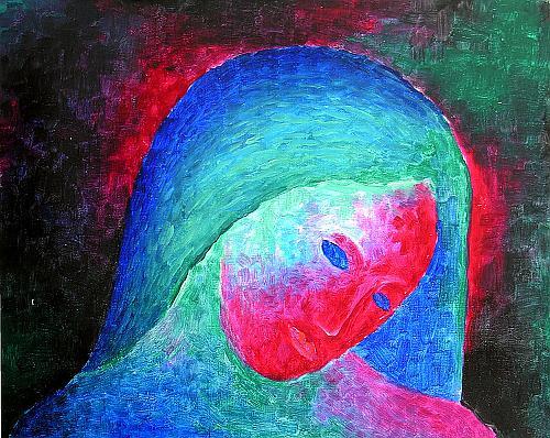 Голова фигуративное искусство - масло живопись