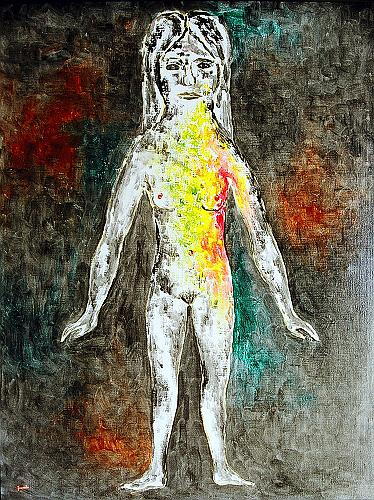 Naked figurative art - oil painting