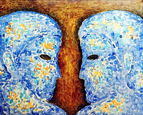 Two figurative art - oil painting