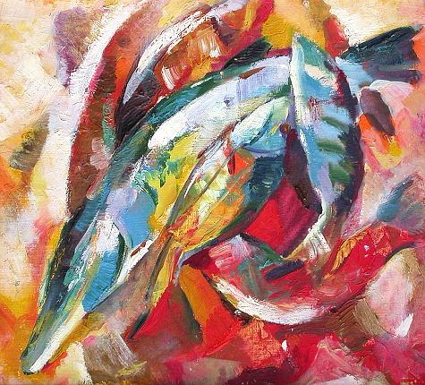 Fish still life - oil painting