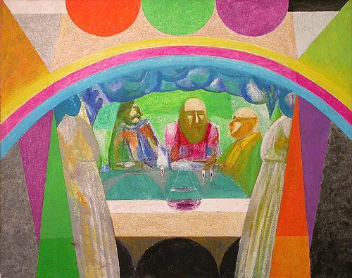 Радуга фигуративное искусство - акрил живопись