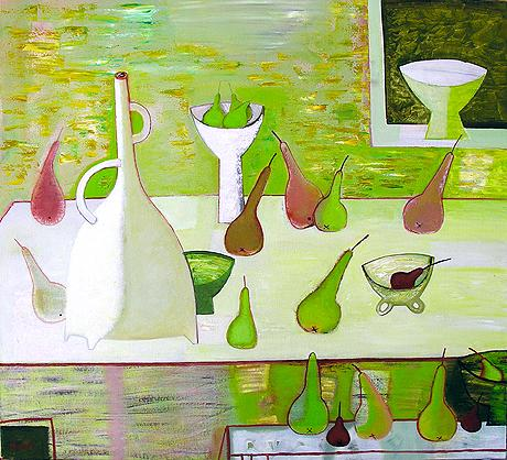 Still Life with Pears still life - oil, acrylic painting