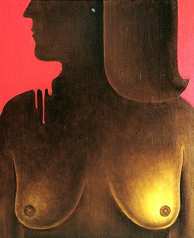 Обнаженная фигуративное искусство - масло живопись