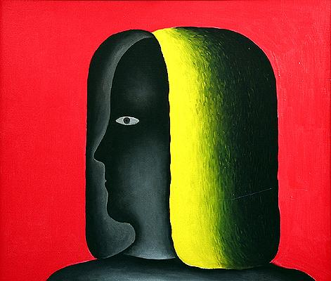 Portrait of a Woman figurative art - oil painting