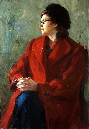 Портрет В.Храмцовой портрет или фигура - масло живопись