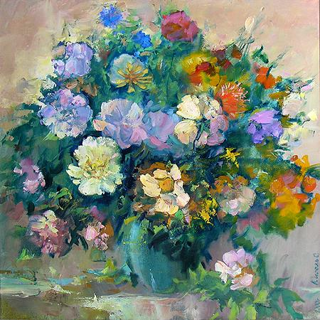Bouquet flower - oil painting