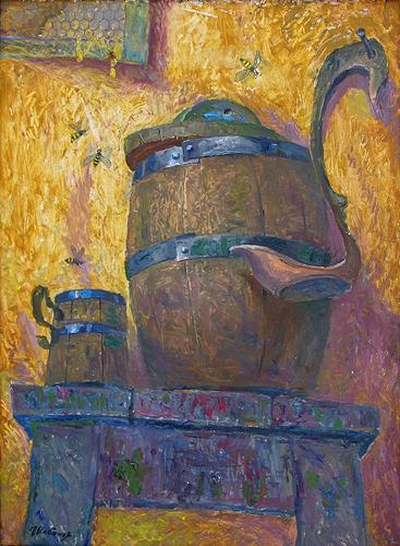 Spases. Honey Spas (triptych) still life - oil painting