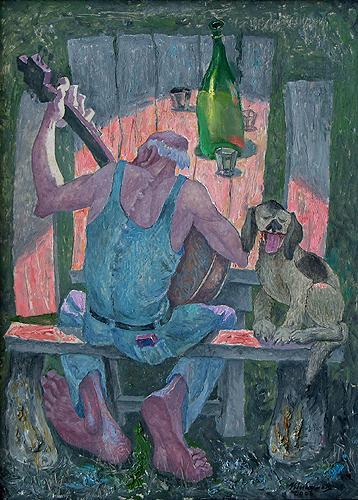 Song genre scene - oil painting