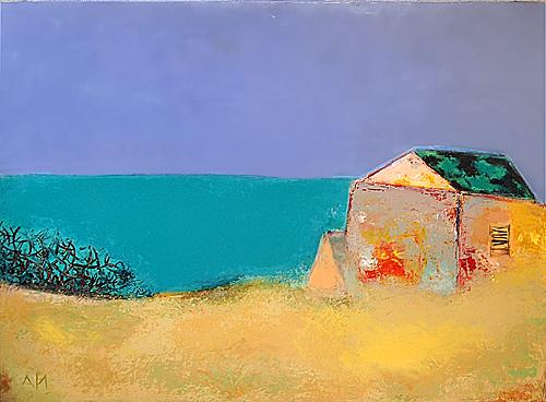 Mediterranean Sea abstract landscape - acrylic painting