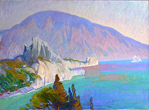 Medved Mountain seascape - oil painting