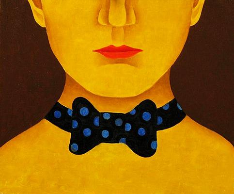 Man with a Bow figurative art - oil painting