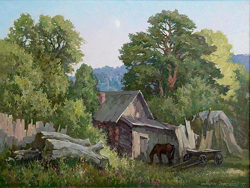 Nook in the Forest rural landscape - oil painting