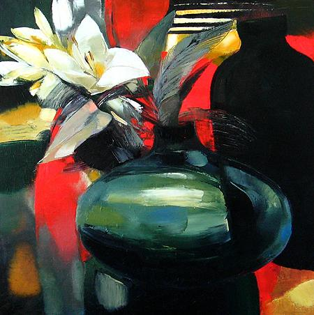 Lilies flower - oil painting