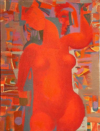 In Side Scene figurative art - oil painting