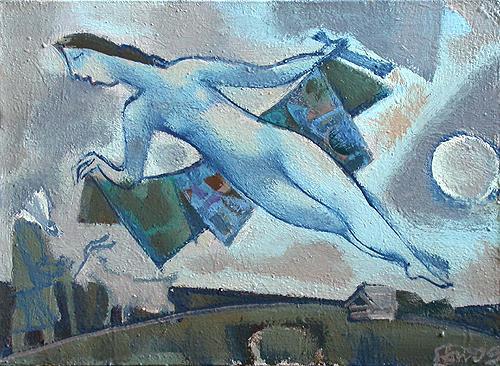 Mirage figurative art - oil painting