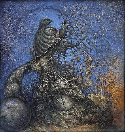 Alive Monument surrealist art - oil painting