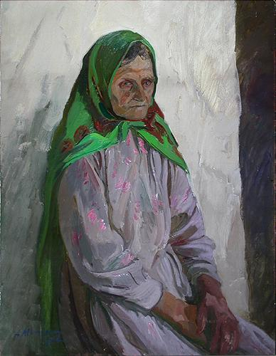 Halida portrait or figure - oil painting