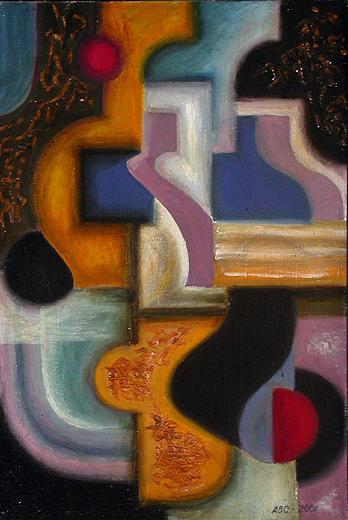 Abstract Composition abstract art - oil painting