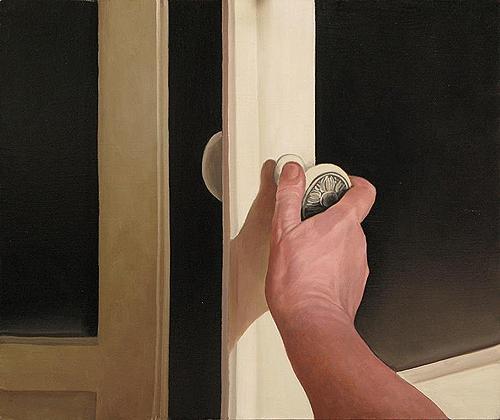Door fantastical art - oil painting
