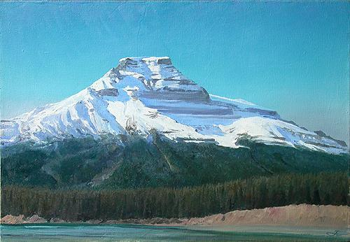 Imery mountain landscape - oil painting