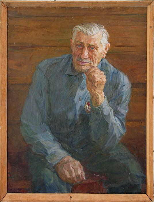 Portrait of a Veteran portrait or figure - oil painting