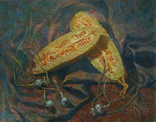 Still Life with Marrows still life - oil painting