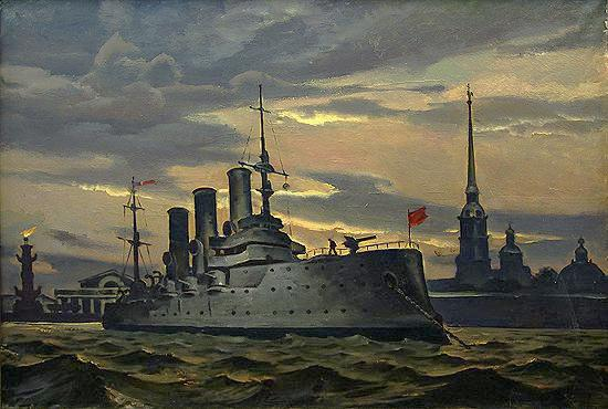 Aurora ship Leningrad revolution Saint