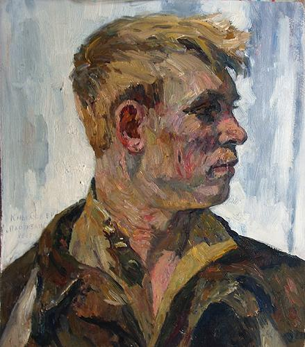 Partisan, Study portrait or figure - oil painting