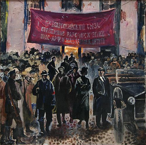 Soviet Congress social realism - oil painting