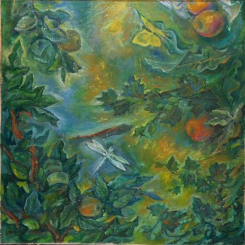 Untitled vegetation - oil painting
