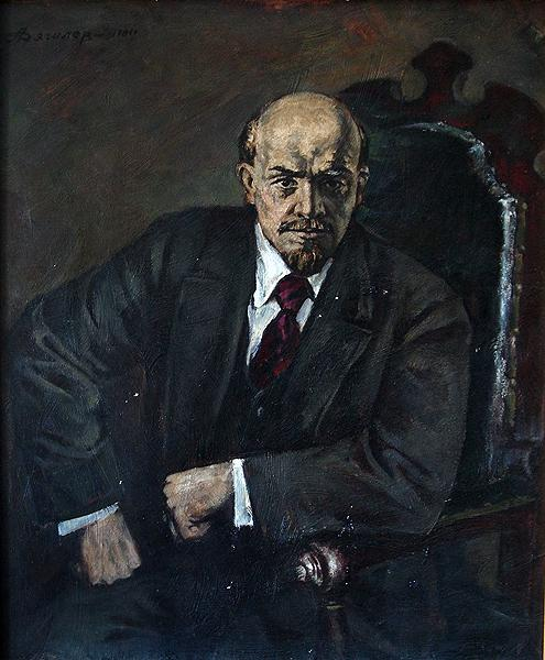 Lenin portrait or figure - oil painting Lenin portrait social