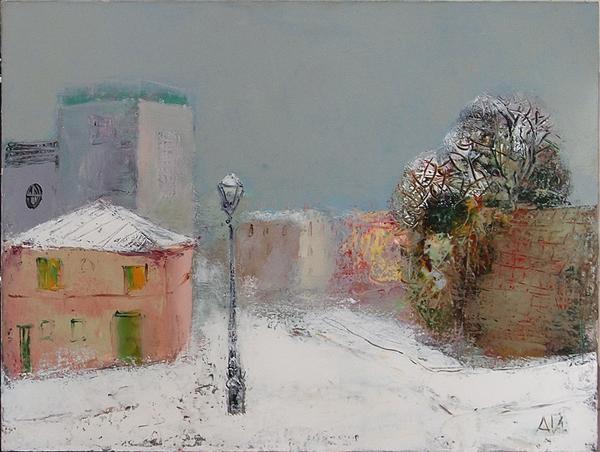Montmartre cityscape - oil painting