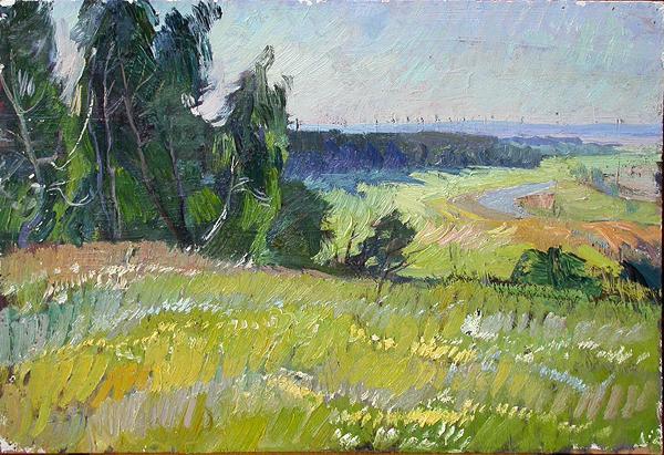 Summer Landscape summer landscape - oil painting