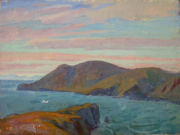 Lake Baikal seascape - oil painting