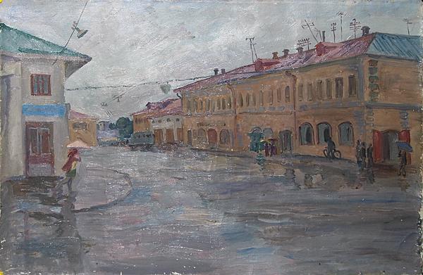 Ростов Великий городской пейзаж - масло живопись